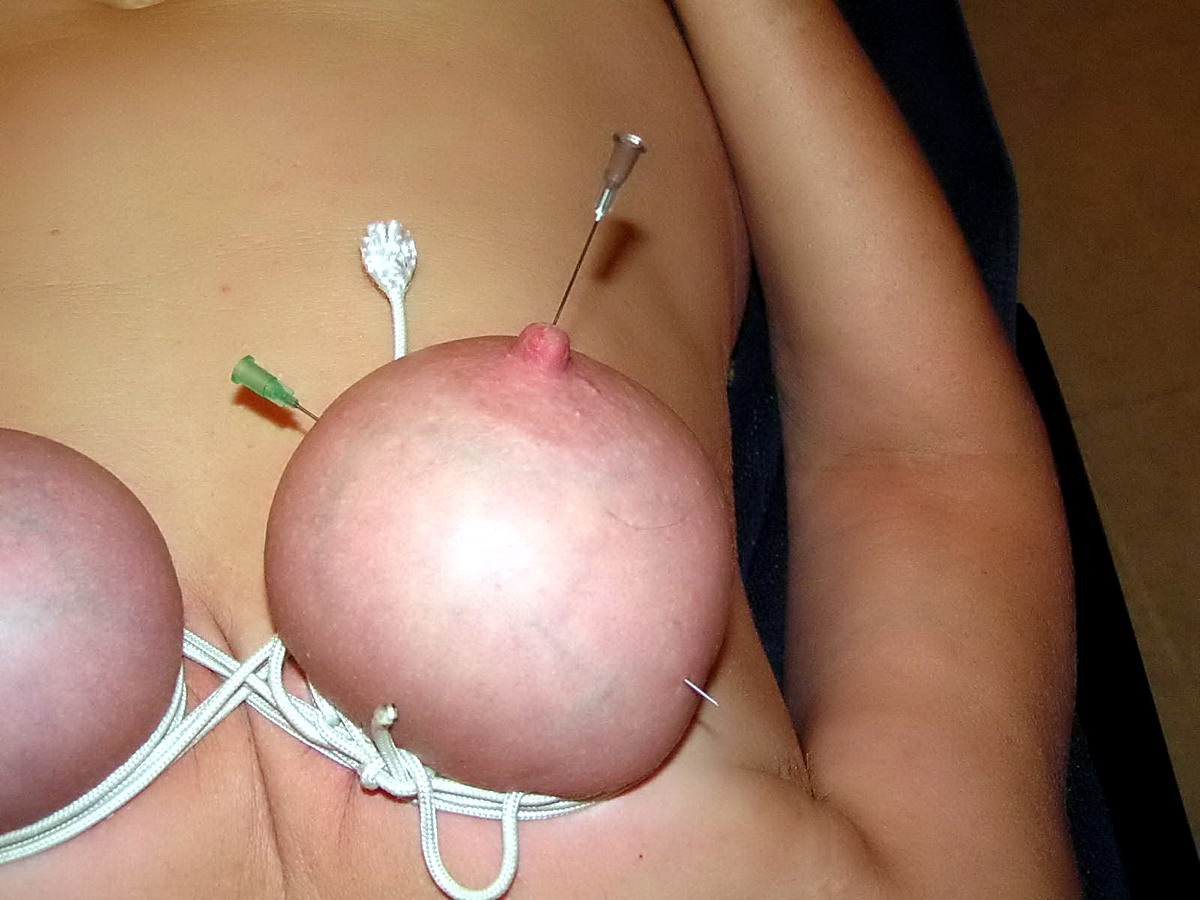 nipple needle Bdsm piercing