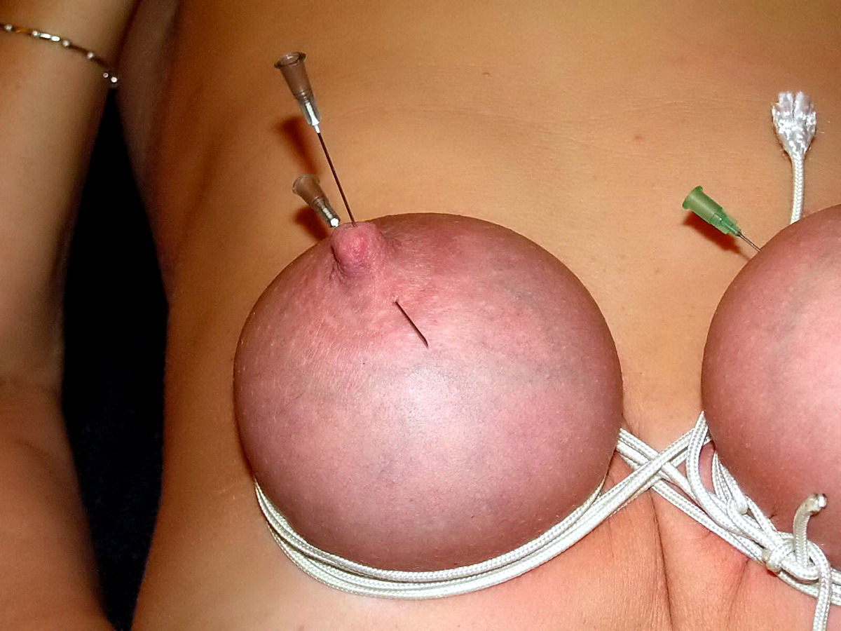 Nipples bdsm needles pain