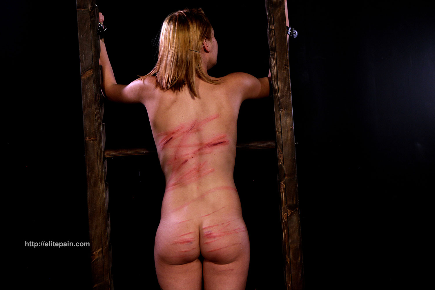 Slave endures being suspended by her breasts 7