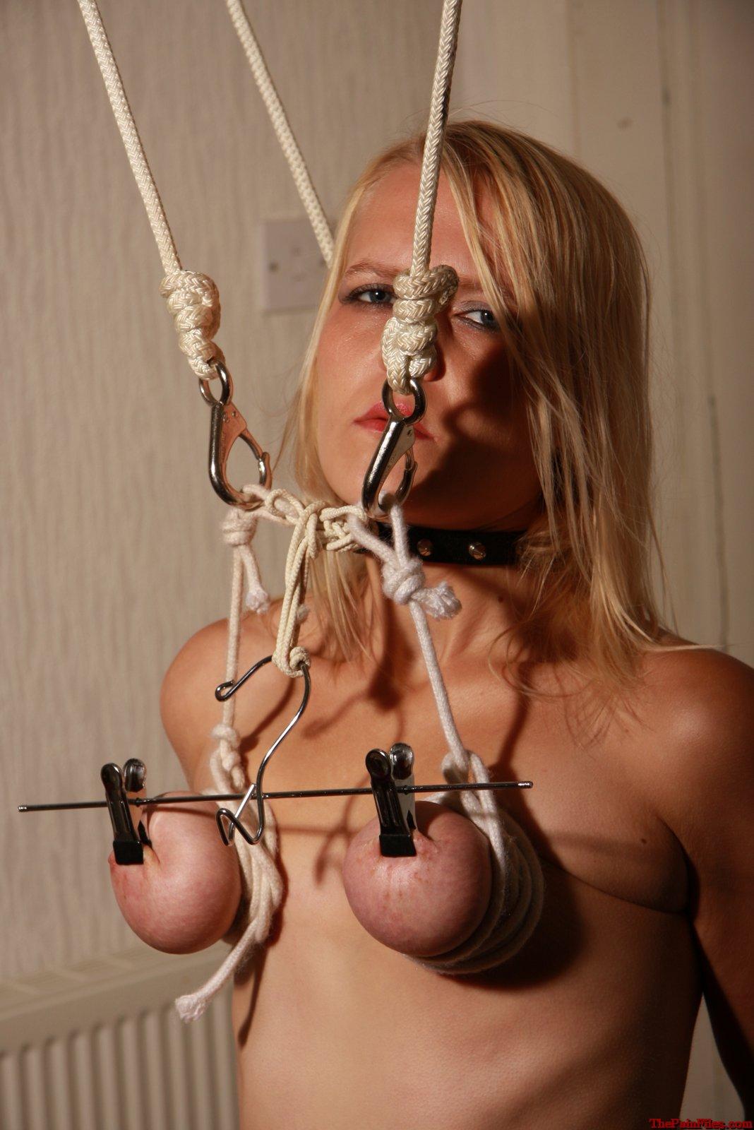Homemade bdsm breast harness